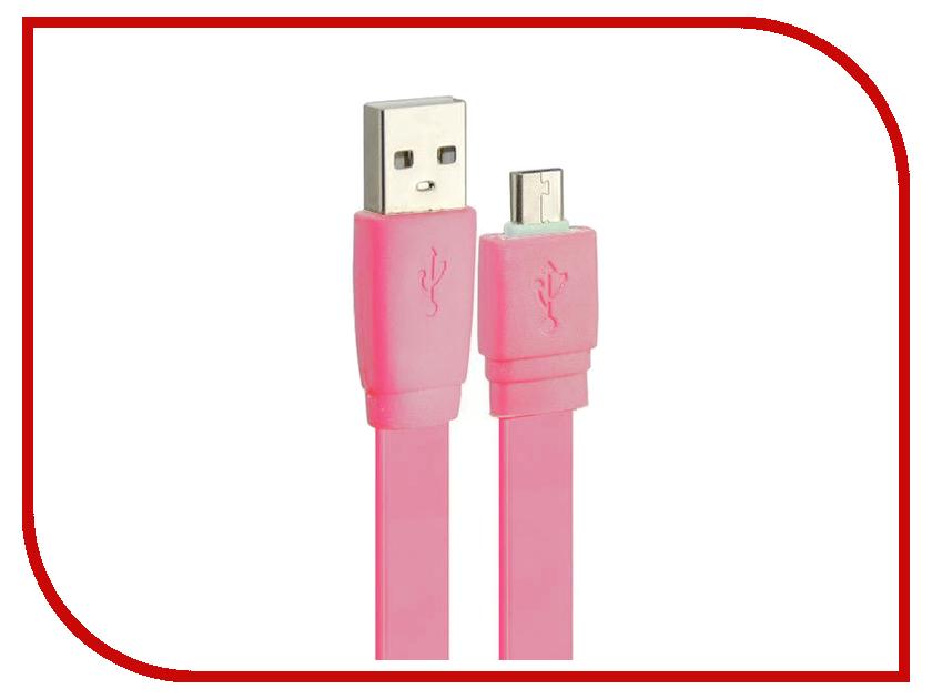 Аксессуар Pro Legend micro-USB 1м Pink PL1317<br>