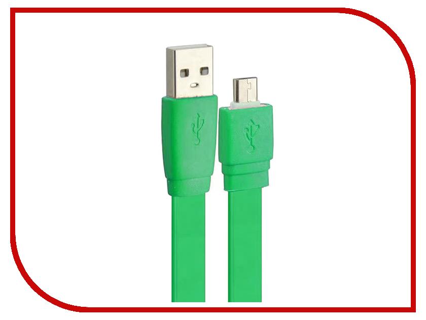 Аксессуар Pro Legend micro-USB 1m Green PL1318