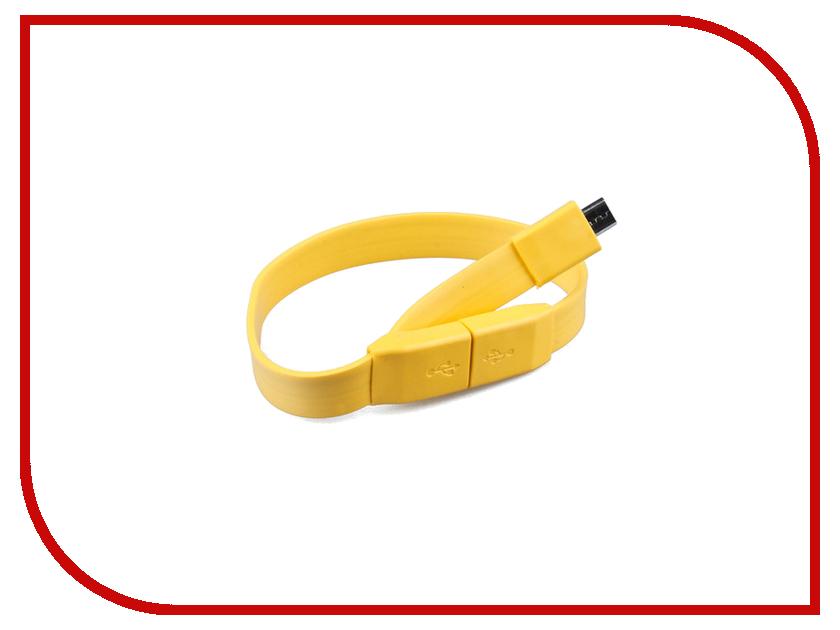 Аксессуар Pro Legend micro-USB 25cm Yellow PL1321<br>