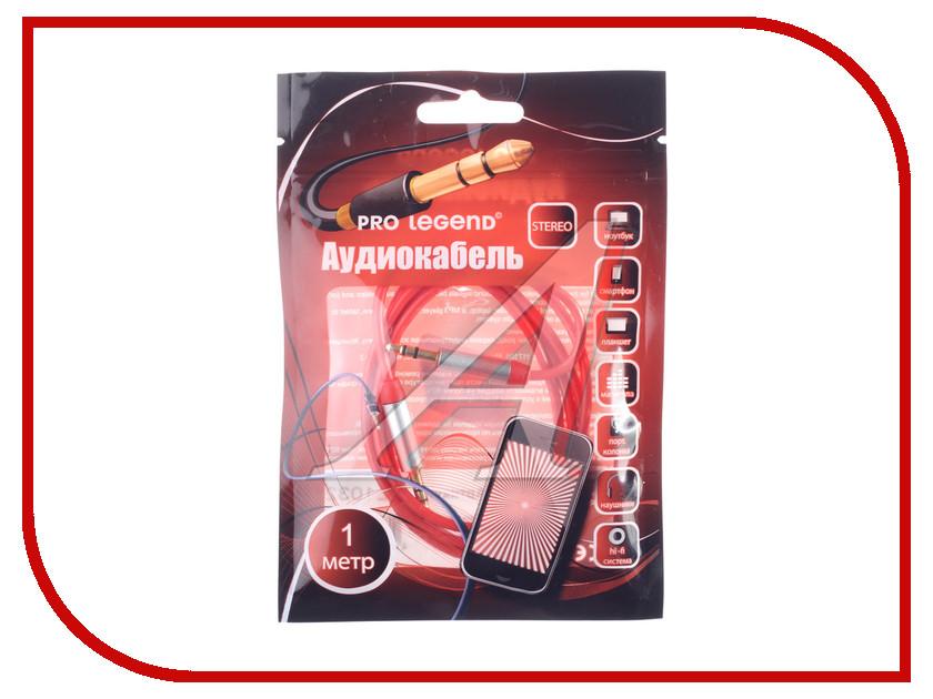 Аксессуар Pro Legend 3.5 Jack (M) 1m Red PL1032<br>