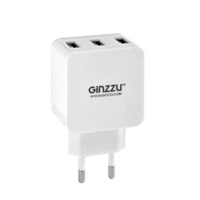 Зарядное устройство Ginzzu 3xUSB 3.1A GA-3315UW