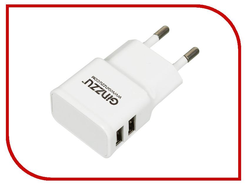 Зарядное устройство Ginzzu 2xUSB 2.1A GA-3210UW ginzzu s4510 аккумулятор