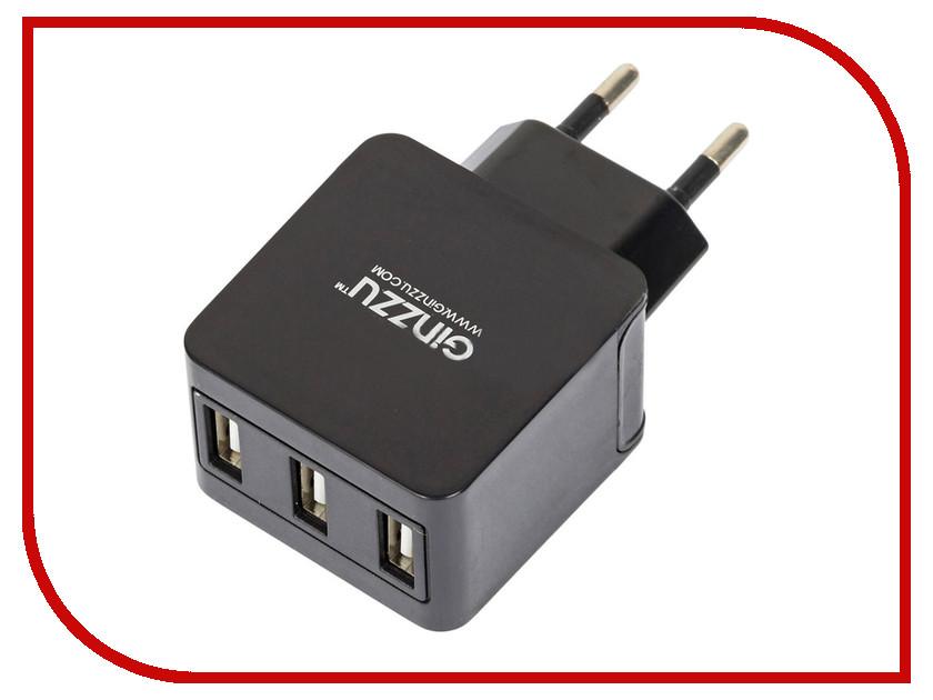 Зарядное устройство Ginzzu 3xUSB 3.1A GA-3315UB<br>