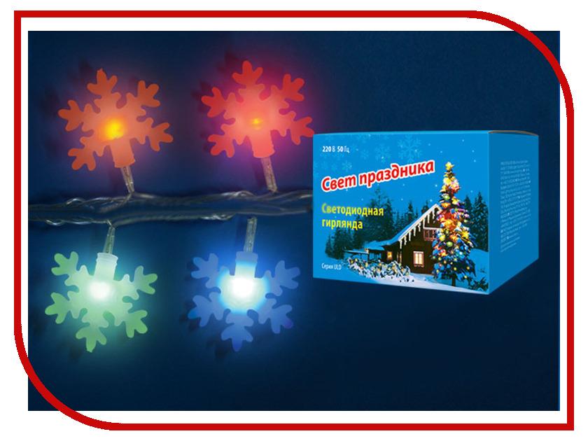 Гирлянда Uniel ULD-S0700-050/DTA IP20 Snowflakes-3 Multi<br>