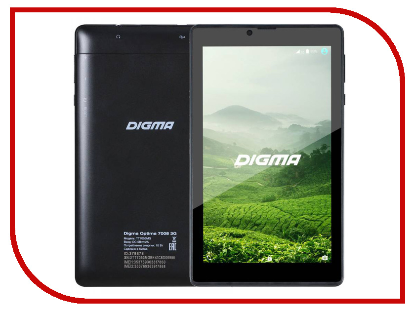 Планшет Digma Optima 7008 3G TT7053MG MTK8312CW 1.2 GHz/512Mb/4Gb/Wi-Fi/3G/Bluetooth/Cam/7.0/1024x600/Android<br>