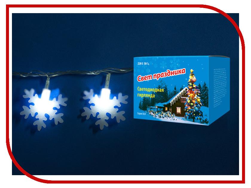 Гирлянда Uniel ULD-S0700-050/DTA IP20 Snowflakes-2 White