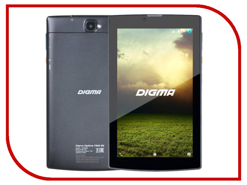 Планшет Digma Optima 7202 3G TS7055MG MT8321 1.3 GHz/1024Mb/8Gb/Wi-Fi/3G/Bluetooth/Cam/7.0/1024x600/Android 379881<br>