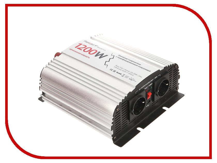 Автоинвертор Relato MS1200/12V (1200Вт) с 12В на 220В