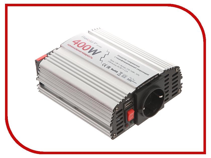 Автоинвертор Relato MS400 (400Вт) с 12В на 220В автоинвертор acmepower ap ds100 100вт преобразователь с 12в на 220в