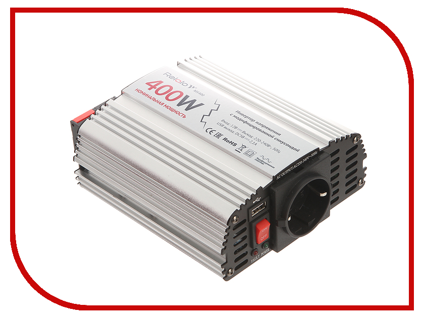 Автоинвертор Relato MS400 (400Вт) с 12В на 220В