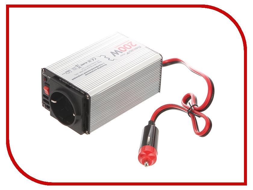 Автоинвертор Relato MS200 (200Вт) с 12В на 220В автоинвертор acmepower ap ds100 100вт преобразователь с 12в на 220в