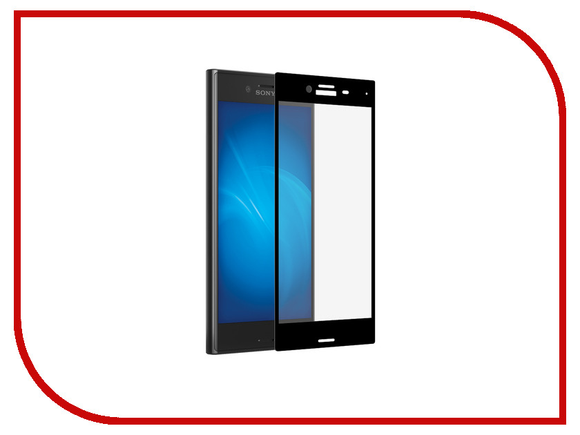 Аксессуар Закаленное стекло Sony Xperia X Compact DF Black xColor-05<br>