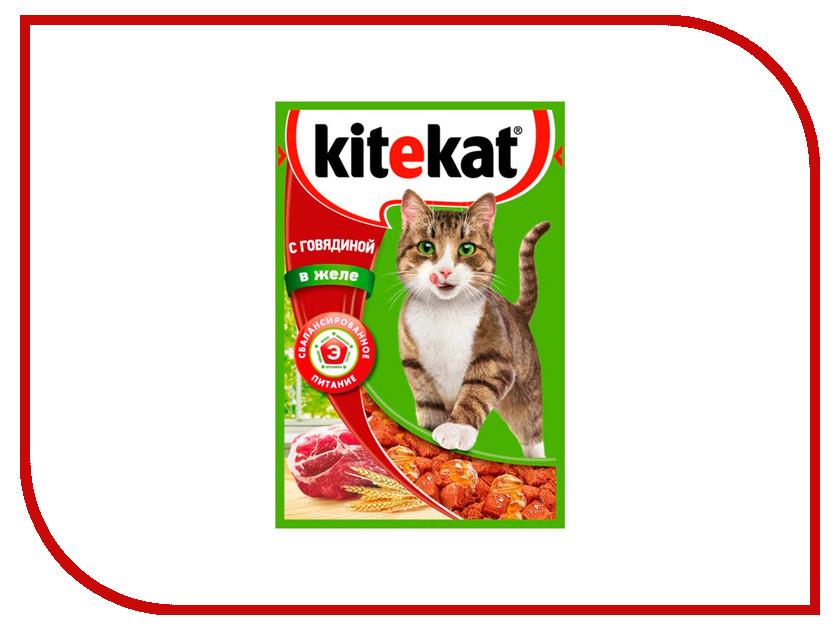 Корм Kitekat Говядина в желе 85g для кошек 10151299