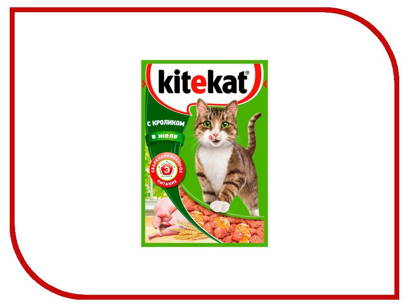 Корм Kitekat Кролик в желе 85g для кошек 10151310 / 10151308
