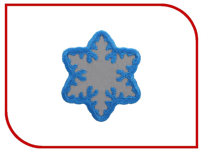 Светоотражатель Cova Термошеврон Снежинка Blue 55x55mm 333-045
