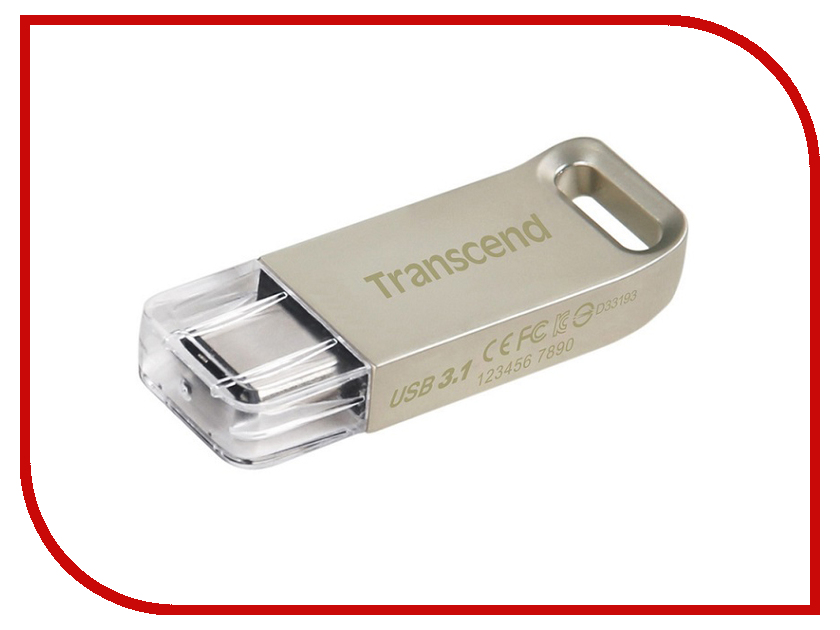 USB Flash Drive 16Gb - Transcend JetFlash 850S Silver TS16GJF850S