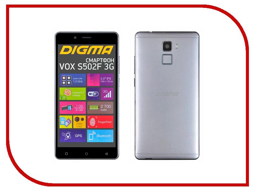 Сотовый телефон Digma VOX S502F 3G Grey Titan сотовый телефон digma vox s502 3g grey