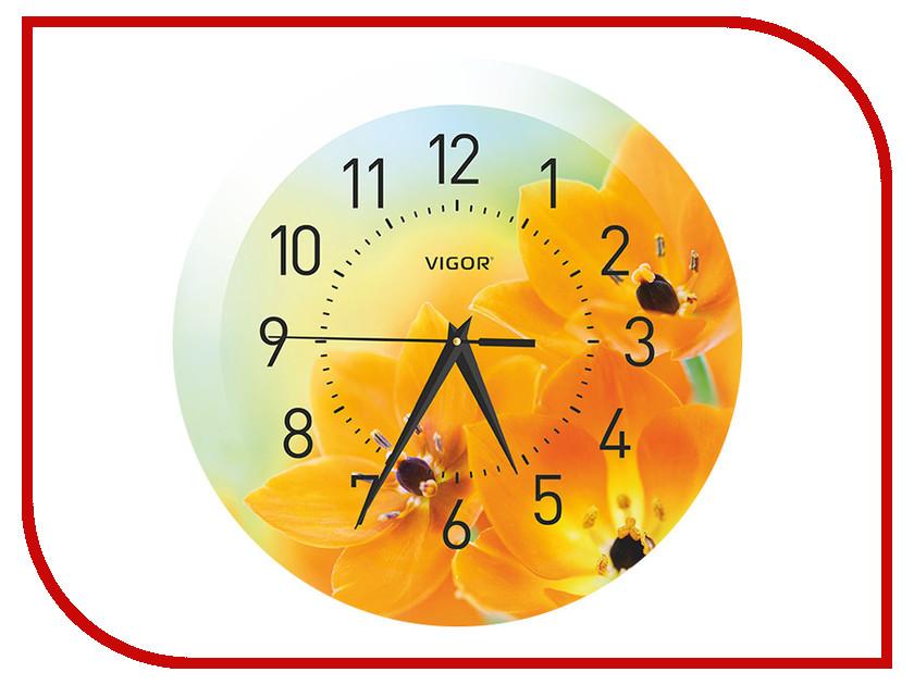 Часы настенные Vigor Д-29 Оранжевое настроение<br>