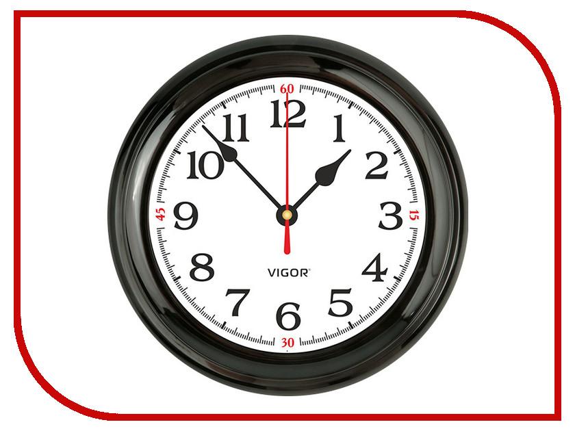 Часы настенные Vigor Д-24 Классика белая в черном