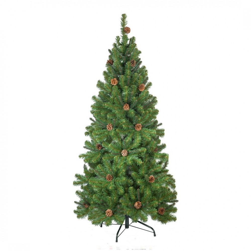 Ель Crystal Trees Триумфальная с шишками 180cm KP8518