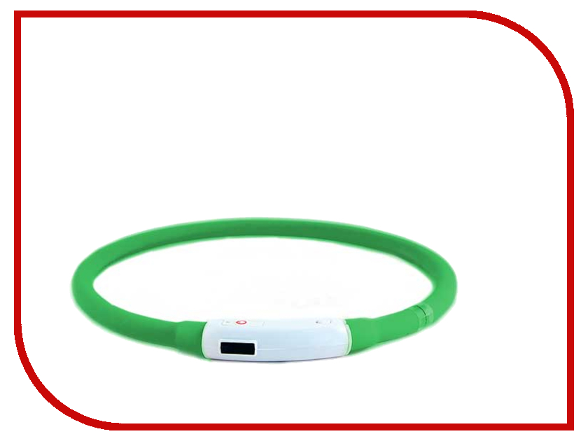 Ошейник светодиодный Richi LED 30cm XS Silicone Green 3501<br>