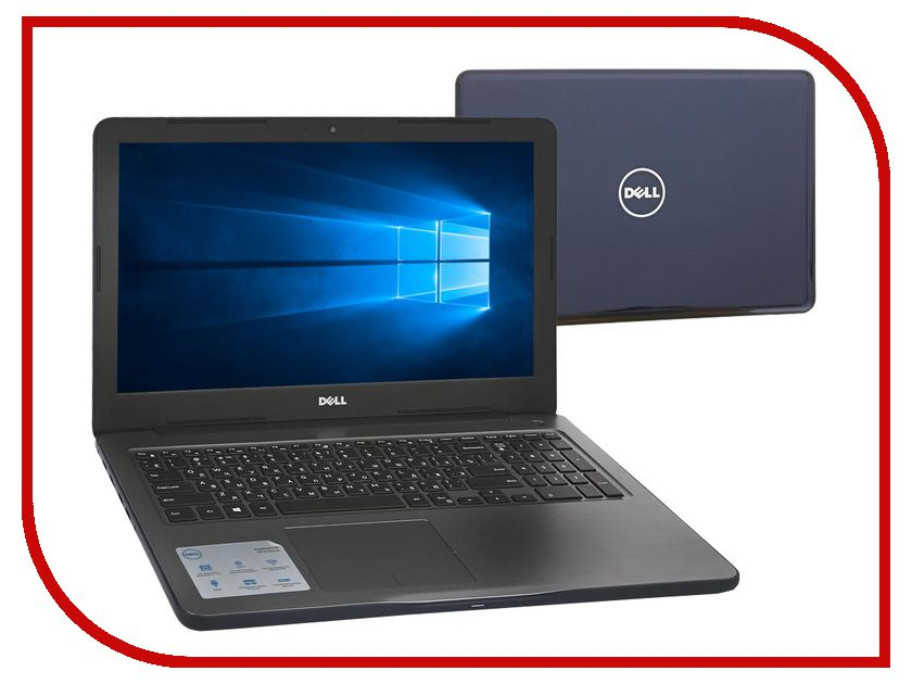 Ноутбук Dell Inspiron 5567 5567-3553 (Intel Core i5-7200U 2.5 GHz/8192Mb/1000Gb/DVD-RW/AMD Radeon R7 M445/Wi-Fi/Bluetooth/Cam/15.6/1366x768/Windows 10 64-bit)<br>