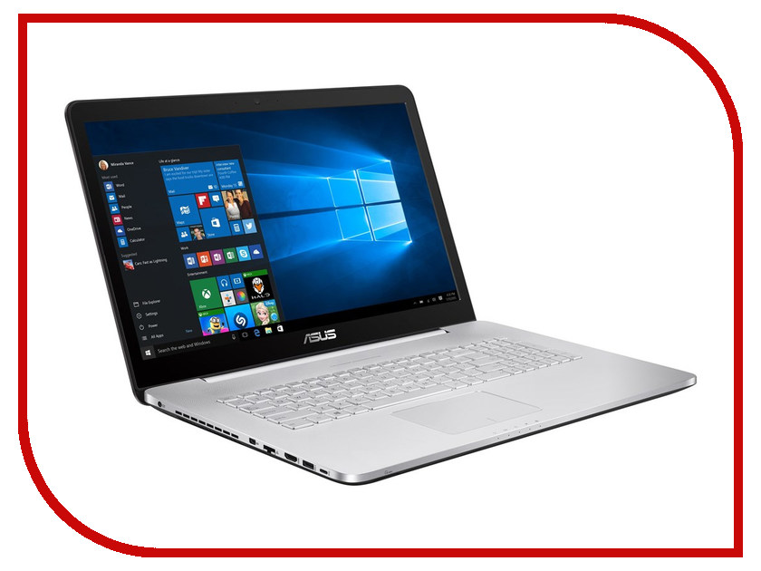 Ноутбук ASUS N752VX-GC218T XMAS Special 90NB0AY1-M02530 (Intel Core i5-6300HQ 2.3 GHz/4096Mb/1000Gb/DVD-RW/nVidia GeForce GT 950M 4096Mb/Wi-Fi/Bluetooth/Cam/17.3/1920x1080/Windows 10 64-bit)