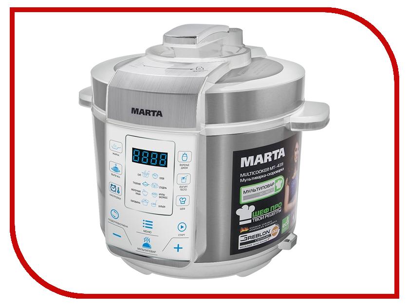 Мультиварка Marta MT-4311 White-Steel<br>