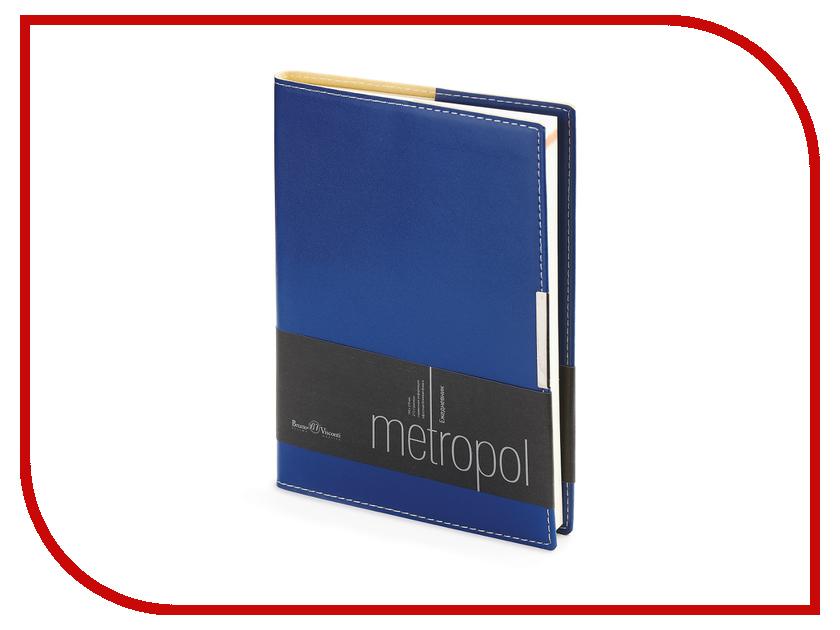 Ежедневник Bruno Visconti Metropol A5 Blue 3-491/01 ежедневник bruno visconti megapolis a5 brown 3 281 03
