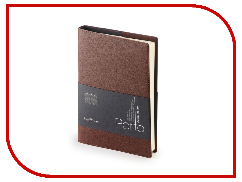 Ежедневник Bruno Visconti Porto A5+ Brown 3-071/03
