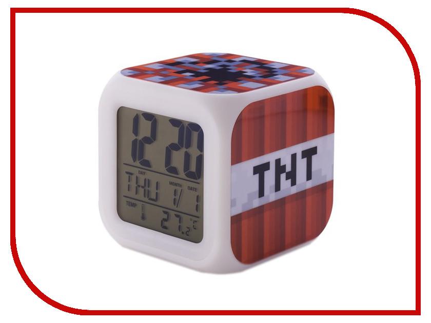 Часы настольные Toypost Блок ТНТ пиксельные с подсветкой N03352<br>