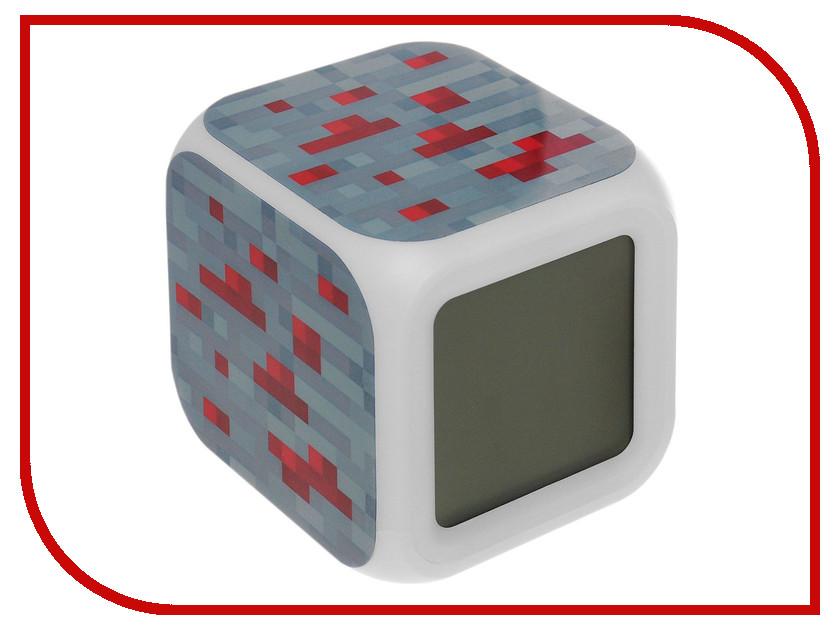 Часы настольные Toypost Блок красной руды пиксельные с подсветкой N03351