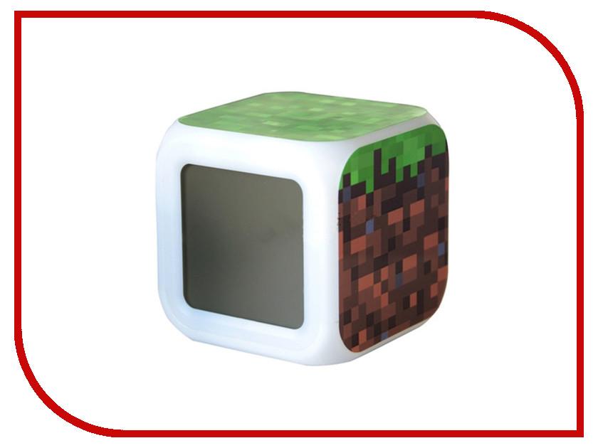 Часы настольные Toypost Блок земли пиксельные с подсветкой N03350