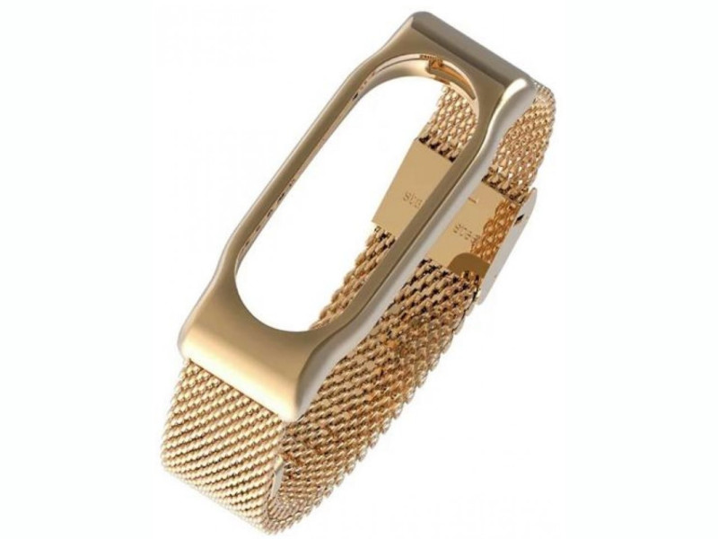 Aксессуар Ремешок Apres Mijobs Metal Strap for Xiaomi Mi Band 2 Gold
