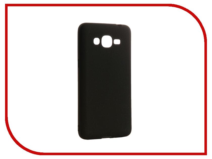 Аксессуар Чехол Samsung Galaxy J2 Prime / Grand Prime 2016 DF sColorCase-02 Black<br>