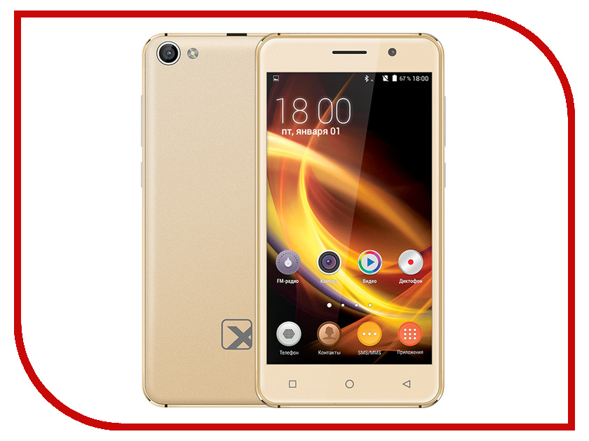 Сотовый телефон teXet TM-5005 Gold texet tm 500r отзывы