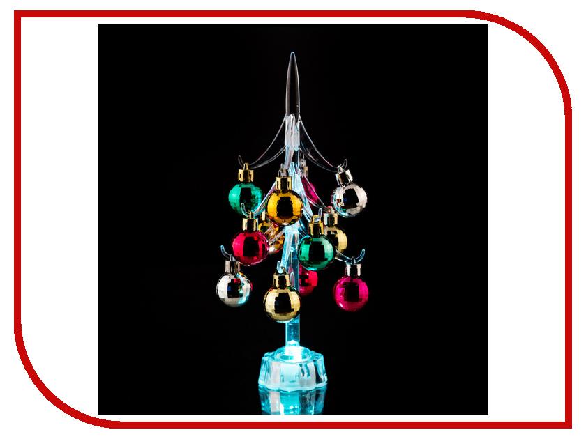 Новогодний сувенир Lefard Елочка с шарами 26cm с подсветкой 786-165 lefard сувенир gemma 17 см