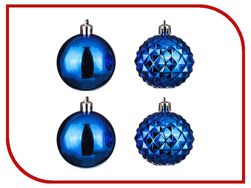 Украшение Lefard Набор шаров 4шт Blue 858-018