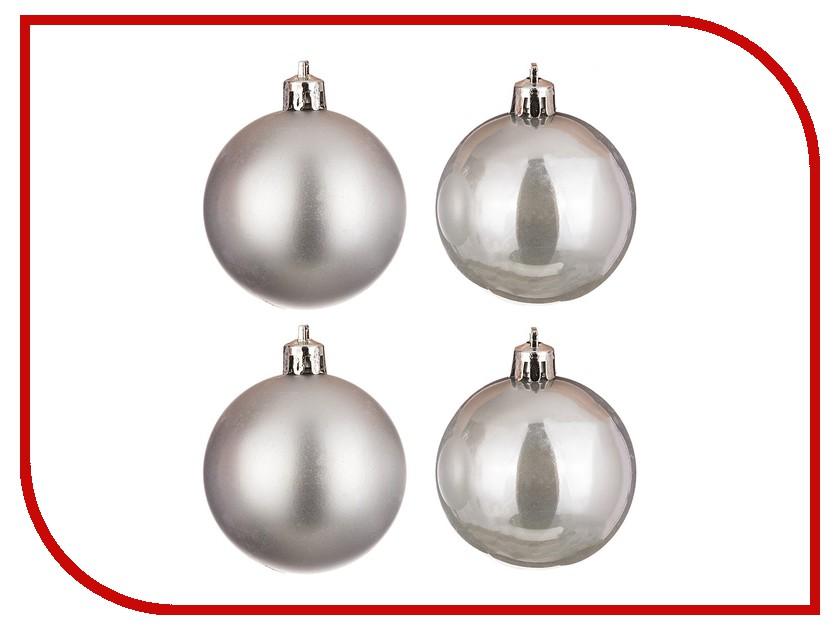 Украшение Lefard Набор шаров 4шт Silver 858-022<br>