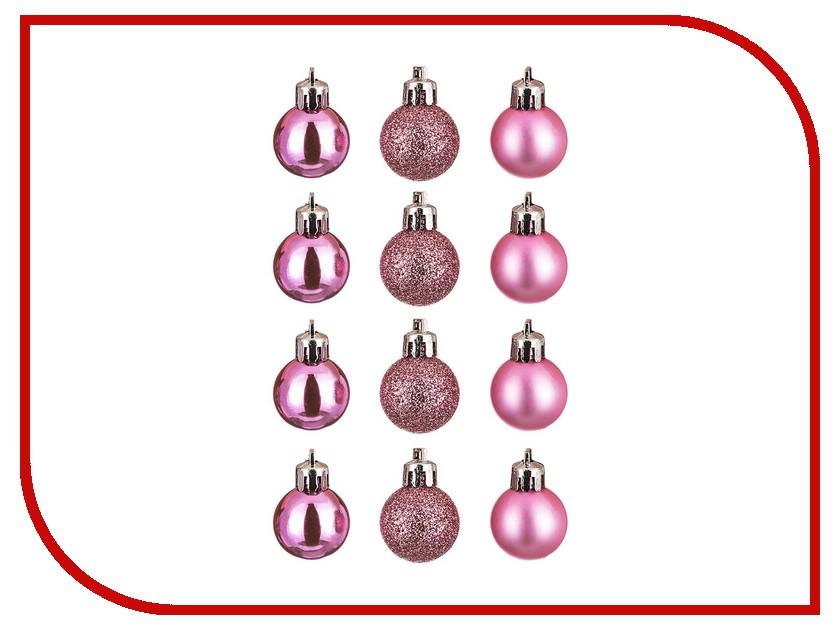Украшение Lefard Набор шаров 12шт Pink 858-005