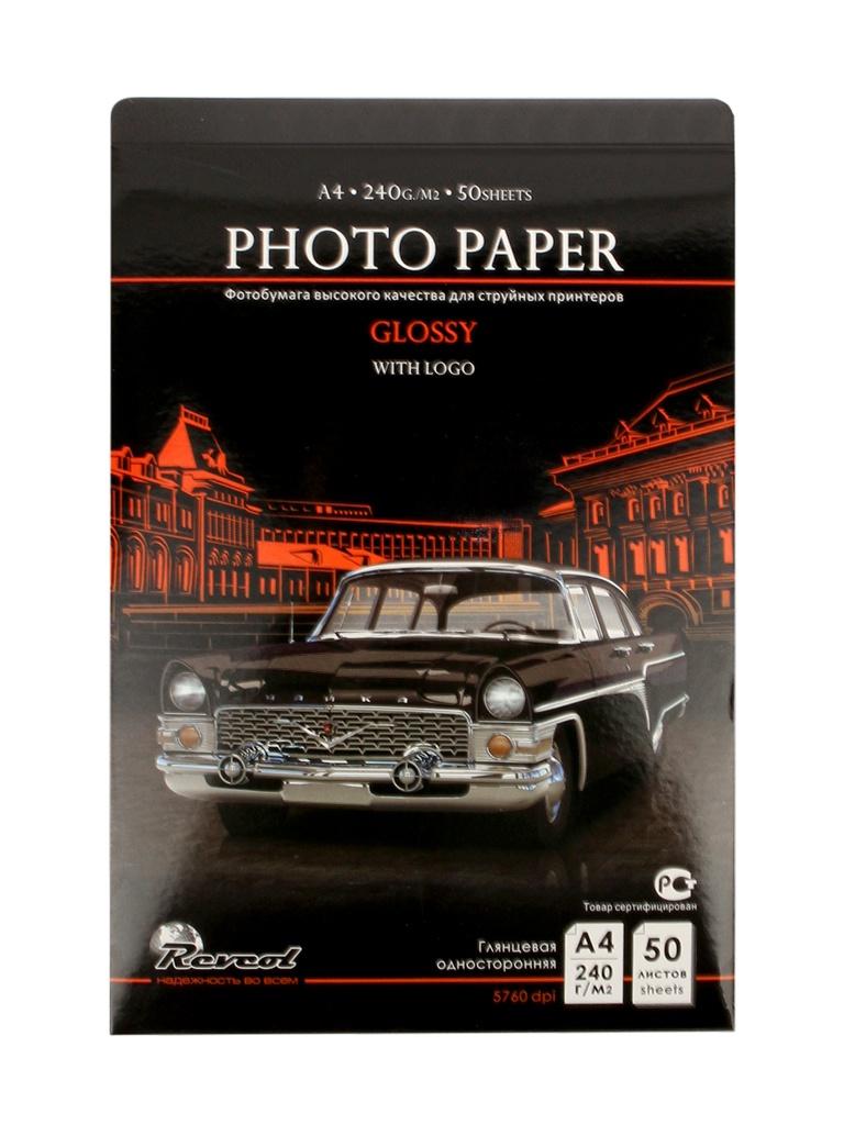 Фотобумага Revcol A4 240g/m2 глянцевая 50 листов Premium
