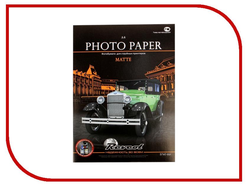 Фотобумага Revcol матовая двухсторонняя A4 250g/m2 50 листов Econom<br>