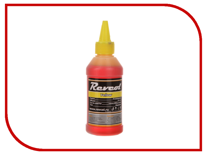 Картридж Revcol Универсал для HP/Canon 100ml Yellow Dye