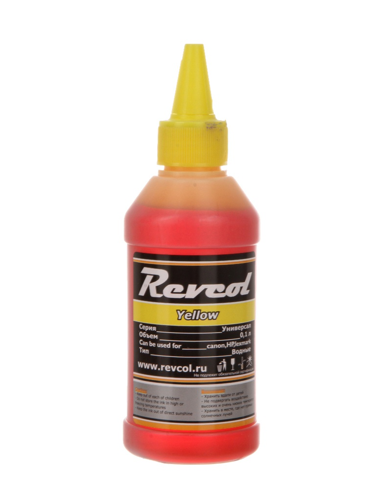 Чернила Revcol Универсал для HP/Canon 100ml Yellow Dye чернила inksystem для фотопечати на canon bj i470 фоточернила