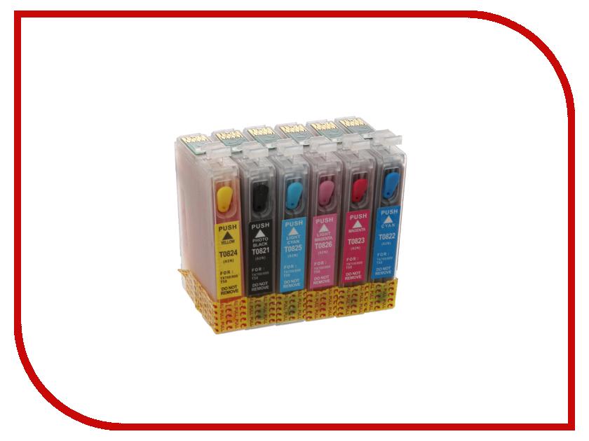 Картридж Revcol Epson T0821-826 T50 с чернилами