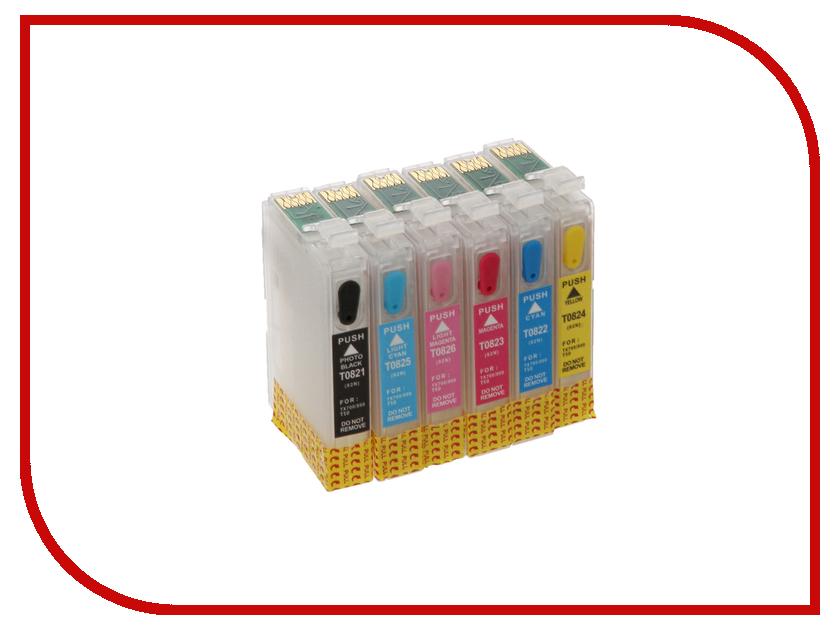 Картридж Revcol Epson T0821-826 T50 картридж revcol универсал для epson 500ml cyan dye