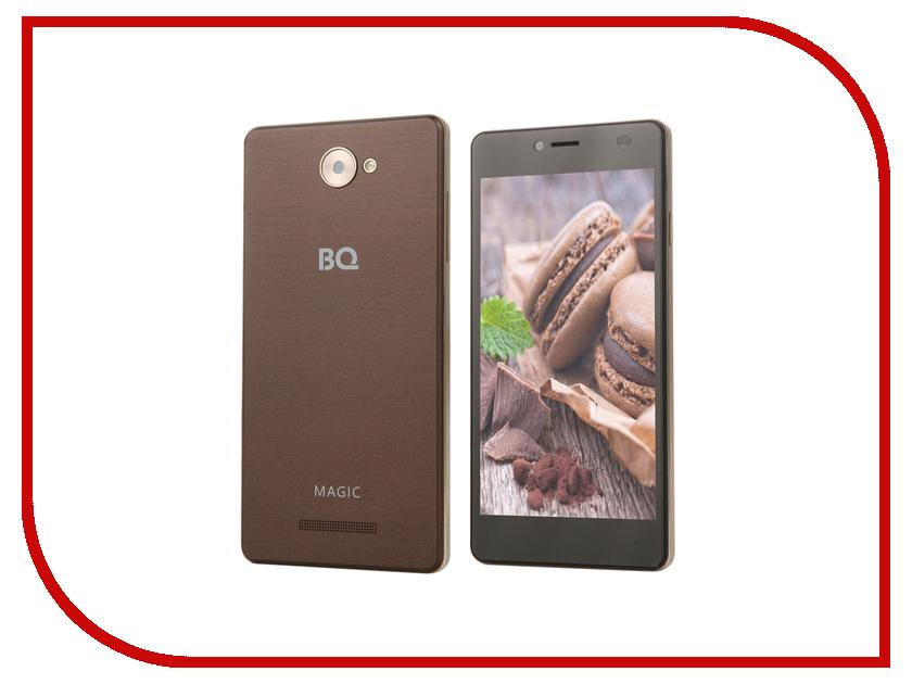 Сотовый телефон BQ BQS-5070 Magic LTE Brown аксессуар чехол bq bqs 5070 magic zibelino classico black zcl bq bqs 5070 blk