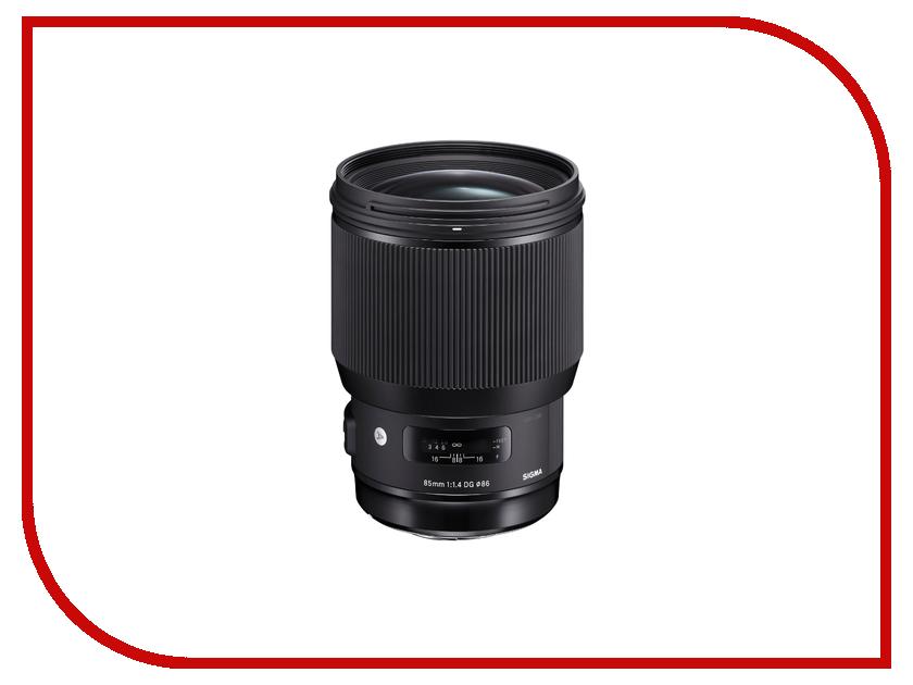 Объектив Sigma Canon AF 85 mm F/1.4 DG HSM Art объектив sigma canon af 14 mm f 1 8 dg hsm art ef
