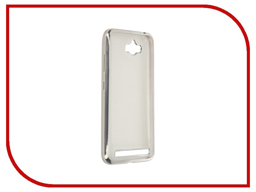 Аксессуар Чехол ASUS ZenFone Max ZC550KL SkinBox Silicone Chrome Border 4People Silver T-S-AZC550KL-008<br>