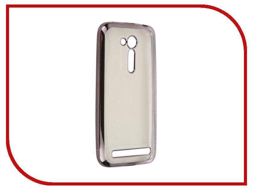 Аксессуар Чехол ASUS ZenFone Go ZB452KG/ZB450KL SkinBox Silicone Chrome Border 4People Dark Silver T-S-AZB452KG-008<br>